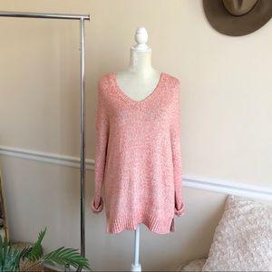 Banana Republic Pink V-Neck Sweater L